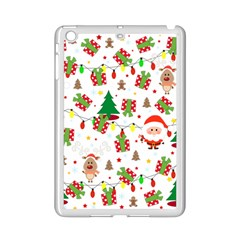 Santa And Rudolph Pattern Ipad Mini 2 Enamel Coated Cases by Valentinaart