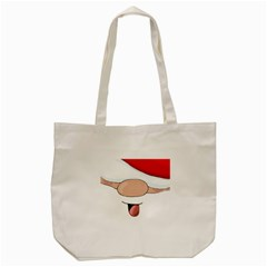 Santa  Tote Bag (cream) by Valentinaart