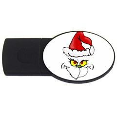 Grinch Usb Flash Drive Oval (4 Gb) by Valentinaart