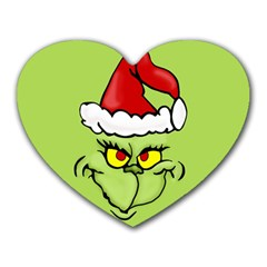 Grinch Heart Mousepads by Valentinaart