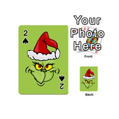 Grinch Playing Cards 54 (mini)  by Valentinaart