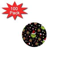 Grinch Pattern 1  Mini Magnets (100 Pack)  by Valentinaart