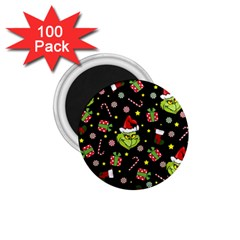 Grinch Pattern 1 75  Magnets (100 Pack)  by Valentinaart