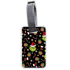 Grinch Pattern Luggage Tags (two Sides) by Valentinaart