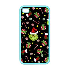 Grinch Pattern Apple Iphone 4 Case (color) by Valentinaart