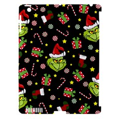 Grinch Pattern Apple Ipad 3/4 Hardshell Case (compatible With Smart Cover) by Valentinaart