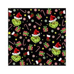 Grinch Pattern Acrylic Tangram Puzzle (6  X 6 ) by Valentinaart