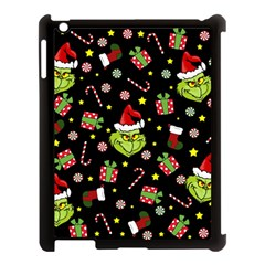 Grinch Pattern Apple Ipad 3/4 Case (black) by Valentinaart