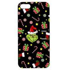 Grinch Pattern Apple Iphone 5 Hardshell Case With Stand by Valentinaart