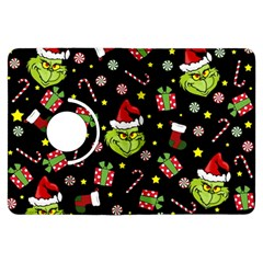 Grinch Pattern Kindle Fire Hdx Flip 360 Case by Valentinaart