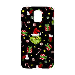 Grinch Pattern Samsung Galaxy S5 Hardshell Case  by Valentinaart