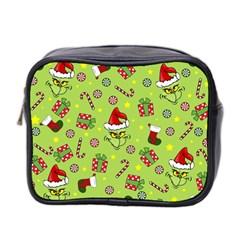 Grinch Pattern Mini Toiletries Bag 2 Side by Valentinaart