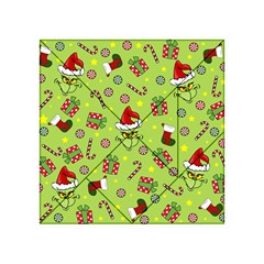 Grinch Pattern Acrylic Tangram Puzzle (4  X 4 ) by Valentinaart