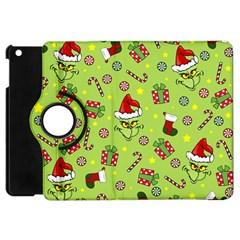 Grinch Pattern Apple Ipad Mini Flip 360 Case by Valentinaart