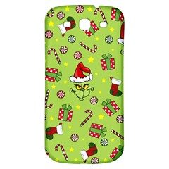 Grinch Pattern Samsung Galaxy S3 S Iii Classic Hardshell Back Case by Valentinaart
