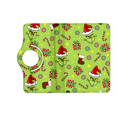 Grinch Pattern Kindle Fire Hd (2013) Flip 360 Case by Valentinaart