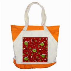 Grinch Pattern Accent Tote Bag by Valentinaart