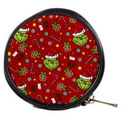 Grinch Pattern Mini Makeup Bags by Valentinaart