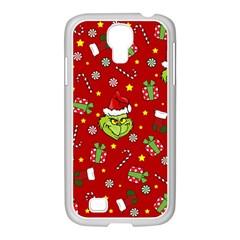Grinch Pattern Samsung Galaxy S4 I9500/ I9505 Case (white) by Valentinaart