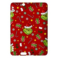 Grinch Pattern Kindle Fire Hdx Hardshell Case by Valentinaart