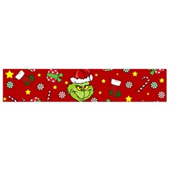 Grinch Pattern Small Flano Scarf by Valentinaart