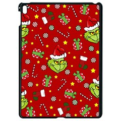 Grinch Pattern Apple Ipad Pro 9 7   Black Seamless Case by Valentinaart