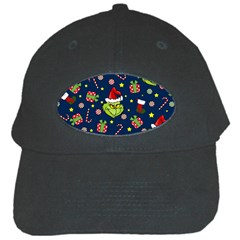 Grinch Pattern Black Cap by Valentinaart