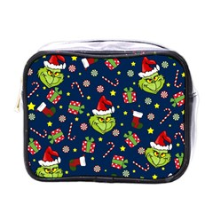 Grinch Pattern Mini Toiletries Bags by Valentinaart