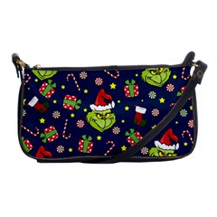 Grinch Pattern Shoulder Clutch Bags by Valentinaart