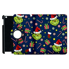 Grinch Pattern Apple Ipad 2 Flip 360 Case by Valentinaart