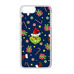 Grinch Pattern Apple Iphone 8 Plus Seamless Case (white) by Valentinaart