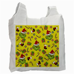 Grinch Pattern Recycle Bag (one Side) by Valentinaart