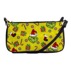 Grinch Pattern Shoulder Clutch Bags by Valentinaart