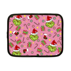 Grinch Pattern Netbook Case (small)  by Valentinaart