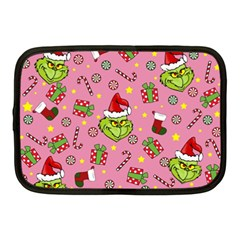 Grinch Pattern Netbook Case (medium)  by Valentinaart