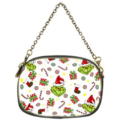 Grinch Pattern Chain Purses (one Side)  by Valentinaart