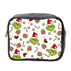 Grinch Pattern Mini Toiletries Bag 2 Side by Valentinaart