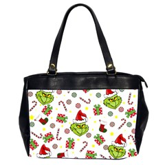 Grinch Pattern Office Handbags (2 Sides)  by Valentinaart