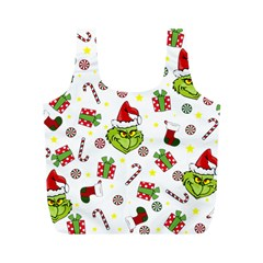 Grinch Pattern Full Print Recycle Bags (m)  by Valentinaart
