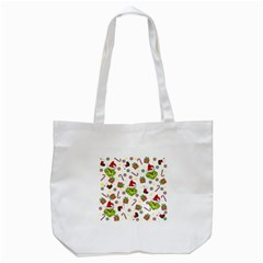 Grinch Pattern Tote Bag (white) by Valentinaart