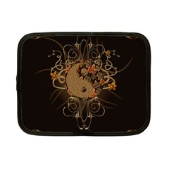 The Sign Ying And Yang With Floral Elements Netbook Case (small)  by FantasyWorld7