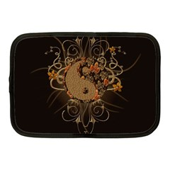 The Sign Ying And Yang With Floral Elements Netbook Case (medium)  by FantasyWorld7