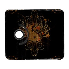The Sign Ying And Yang With Floral Elements Galaxy S3 (flip/folio) by FantasyWorld7