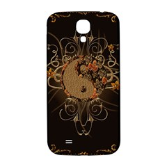 The Sign Ying And Yang With Floral Elements Samsung Galaxy S4 I9500/i9505  Hardshell Back Case by FantasyWorld7