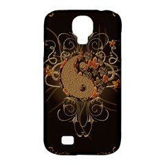 The Sign Ying And Yang With Floral Elements Samsung Galaxy S4 Classic Hardshell Case (pc+silicone) by FantasyWorld7