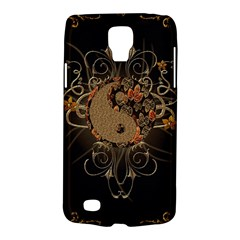 The Sign Ying And Yang With Floral Elements Galaxy S4 Active by FantasyWorld7