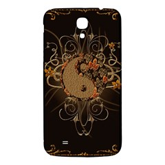 The Sign Ying And Yang With Floral Elements Samsung Galaxy Mega I9200 Hardshell Back Case by FantasyWorld7