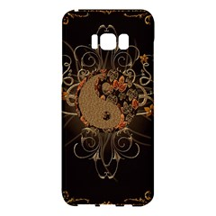 The Sign Ying And Yang With Floral Elements Samsung Galaxy S8 Plus Hardshell Case  by FantasyWorld7