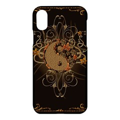The Sign Ying And Yang With Floral Elements Apple Iphone X Hardshell Case