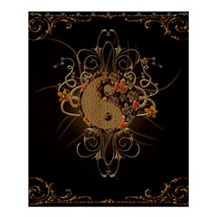 The Sign Ying And Yang With Floral Elements Shower Curtain 60  X 72  (medium)  by FantasyWorld7